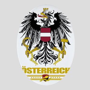 Austria COA (Flag 10) Oval Ornament