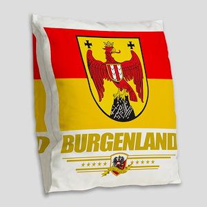 Burgenland (Flag 10) Burlap Throw Pillow