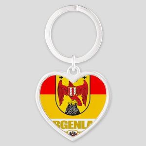 Burgenland (Flag 10) Heart Keychain