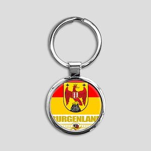 Burgenland (Flag 10) Round Keychain