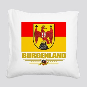 Burgenland (Flag 10) Square Canvas Pillow