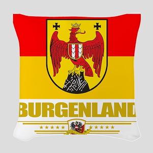 Burgenland (Flag 10) Woven Throw Pillow