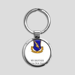 504brother Round Keychain