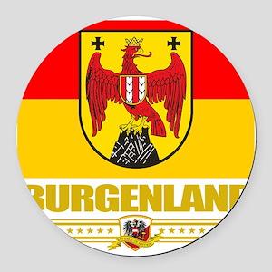 Burgenland (Flag 10) Round Car Magnet