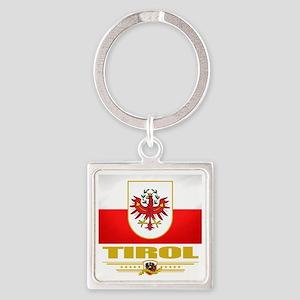 Tirol (Flag 10) Square Keychain