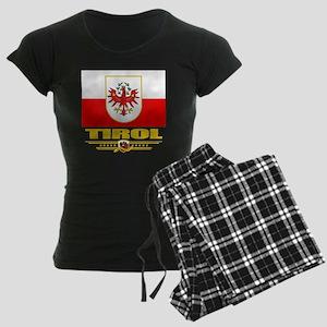Tirol (Flag 10) Women's Dark Pajamas