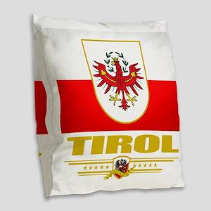 Tirol (Flag 10) Burlap Throw Pillow
