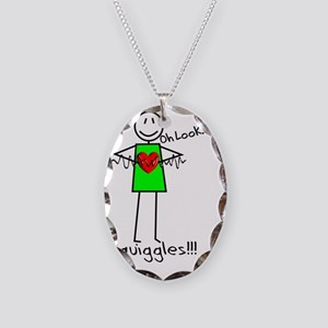 Stick Oh look Squiggles Necklace Oval Charm