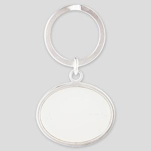 I-Hear-Banjos-Smaller-White Oval Keychain