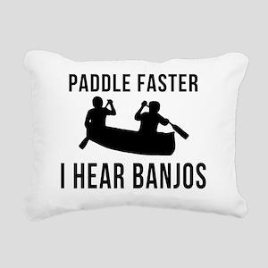 I-Hear-Banjos-Smaller Rectangular Canvas Pillow