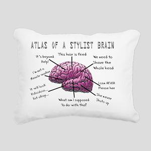 Atlas of a Stylist Brain Rectangular Canvas Pillow