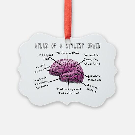 Atlas of a Stylist Brain Picture Ornament