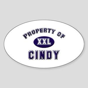 Property of cindy Oval Sticker