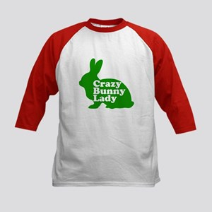 Crazy Bunny Lady Kids Baseball Jersey