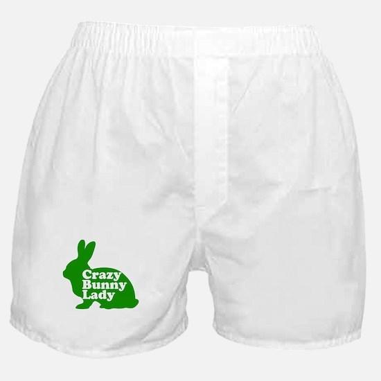 Crazy Bunny Lady Boxer Shorts