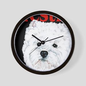 Black West Highland White Terrier Westi Wall Clock