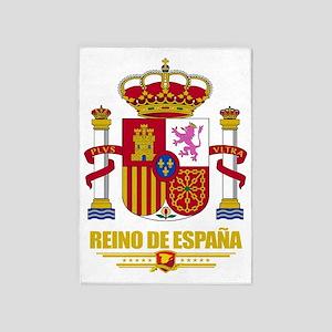 Spain COA (Flag 10) 5'x7'Area Rug