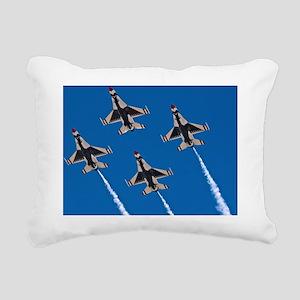 (6) Thunderbirds 4 Bird  Rectangular Canvas Pillow