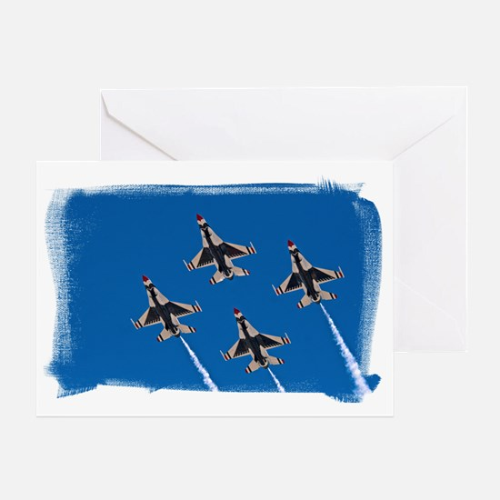 (16) Thunderbirds 4 Bird Side Greeting Card