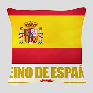 Spain (Flag 10) Woven Throw Pillow