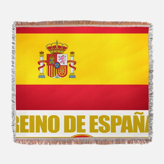 Spain (Flag 10) Woven Blanket