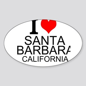 I Love Santa Barbara, California Sticker