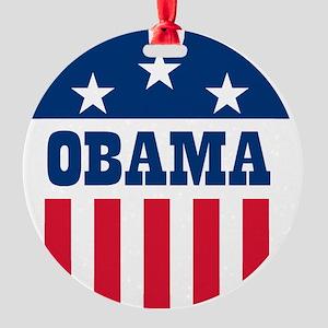 Obama Stars and Stripes - Embroider Round Ornament