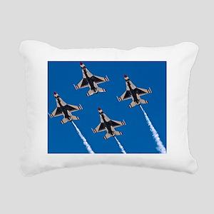 (14) Thunderbirds 4 Bird Rectangular Canvas Pillow