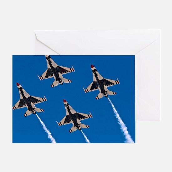 (10) Thunderbirds 4 Bird Side Greeting Card
