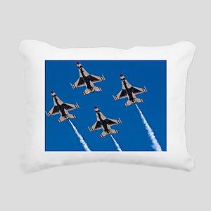 (11) Thunderbirds 4 Bird Rectangular Canvas Pillow