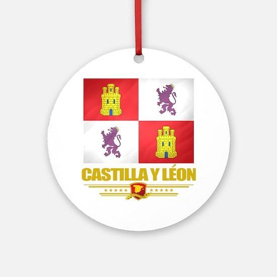 Castilla y Leon (Flag 10) Round Ornament