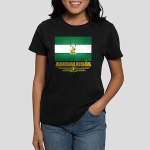 Andalusia (Flag 10) Women's Dark T-Shirt