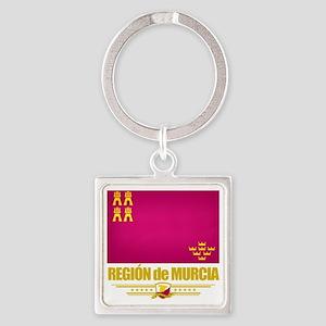 Murcia (Flag 10) Square Keychain