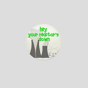 funny nuclear reactor Mini Button