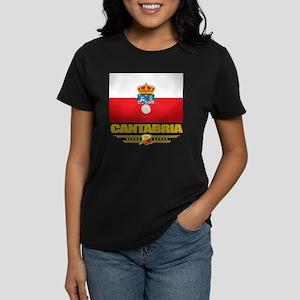 Cantabria (Flag 10) Women's Dark T-Shirt