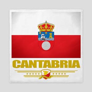 Cantabria (Flag 10) Queen Duvet