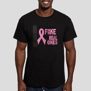 - Fake Men's Fitted T-Shirt (dark)