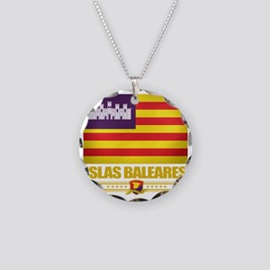 Balearic Islands (Flag 10) Necklace Circle Charm