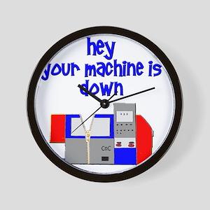 machine operator cnc machinist Wall Clock
