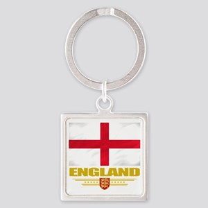 England (Flag 10) Square Keychain