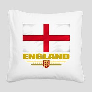 England (Flag 10) Square Canvas Pillow