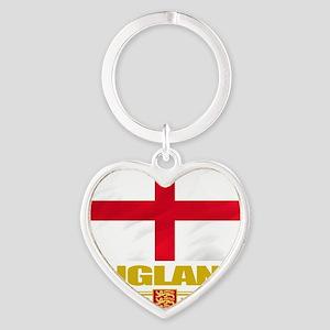 England (Flag 10) Heart Keychain