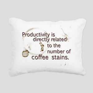 coffee stains Rectangular Canvas Pillow