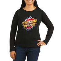 Captain Wow Women's Long Sleeve Dark T-Shirt