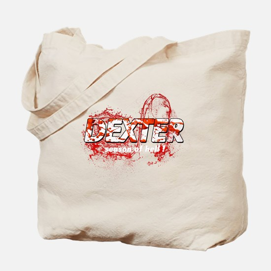 Dexter Season of hell Bloody Splash Tote Bag
