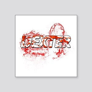 "Dexter Season of hell Blood Square Sticker 3"" x 3"""