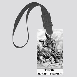 Cafe Print THOR WITH THRALLS Large Luggage Tag