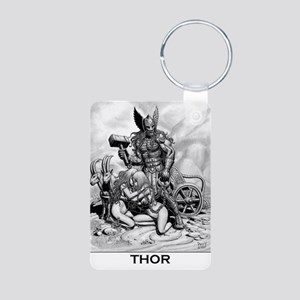 Cafe Print THOR WITH T Aluminum Photo Keychain
