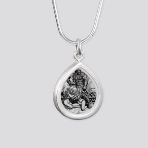 Cafe Print THOR WITH Silver Teardrop Necklace