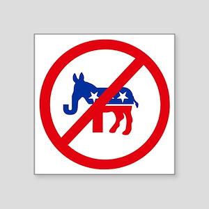 """Republican or Democrat Butt Square Sticker 3"""" x 3"""""""